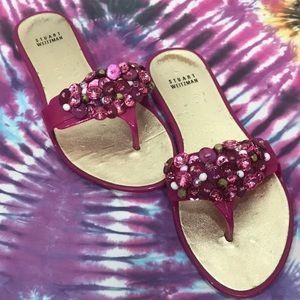 Stuart Weitzman Jelly Beaded Sandals